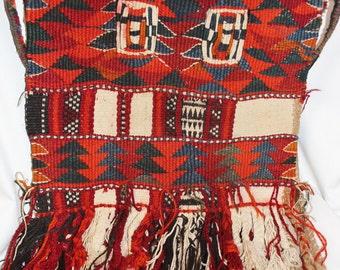 Camel Saddle Bags : Vintage Handmade Kuwaiti Camel Saddle Bag, #867