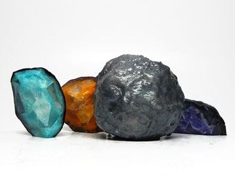 Custom Made Geode Soap - Choose Your Colors & Scent