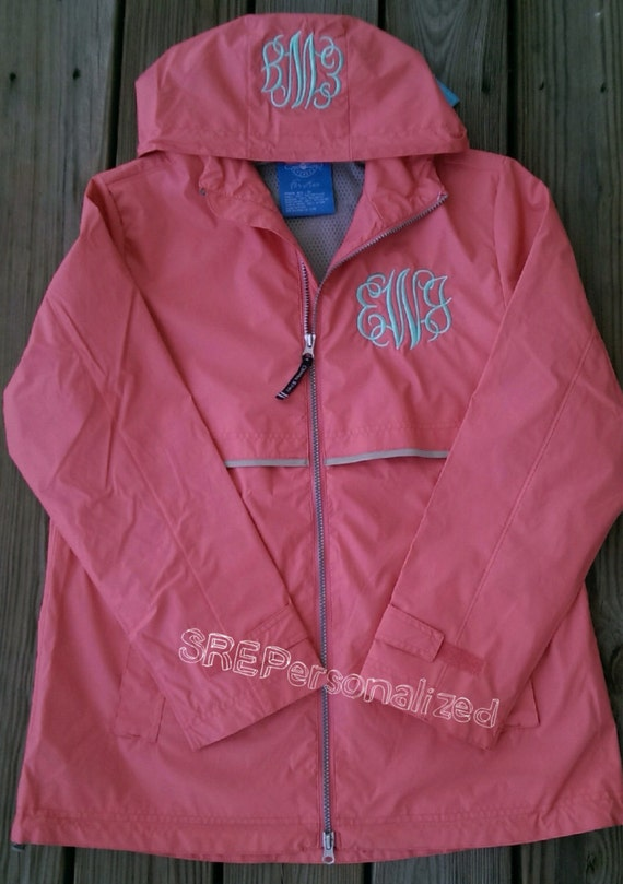 Items similar to preppy personalized monogrammed rain