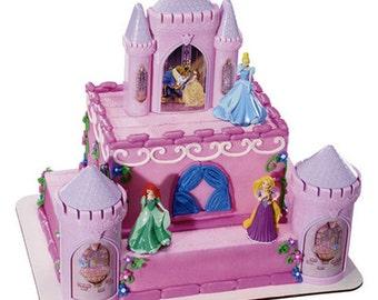Happily Ever After Disney Princess Castle Cake Kit Topper Decorating Decoration