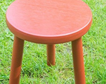 Wooden stool with Beech plywood seat and legs