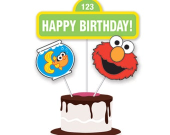 Sesame Street Printable Party Signs - Cake Decoration - Centerpiece Displays - DIY - Instant Download