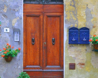 Landscape and Architecture Photography - Wooden Door - Door Photography - Wall Art - Italian Photography - Fine Art Photography