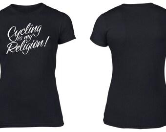 Cycling is my Religion! Womens Cotton T-Shirt Road Cycling Mtb Mountain Biking Retro Geek Nerd Jersey Cycling Clothing NEW