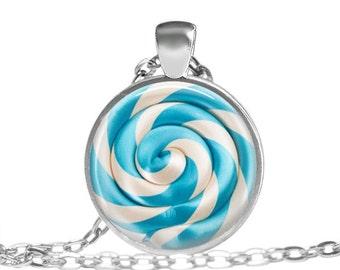 ON SALE Lollipop Necklace Cute Lollipop Pendant Kawaii candy jewelry, Blueberry Blue Lollipop Candy Necklace, Cute lollipop Pendant Lollipop