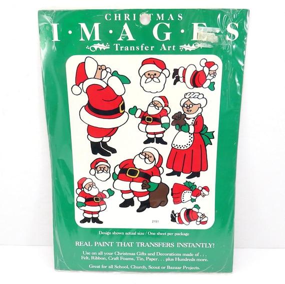 Christmas Decor Vintage 1980s Meyercord Santa Claus Transfer