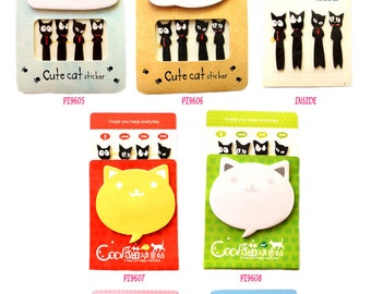 Cat Post IT Notes Sticky Memo