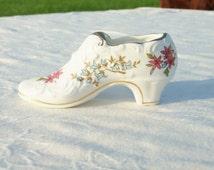 Paragon shoe, vintage miniature shoe, trinket holder, fine bone china