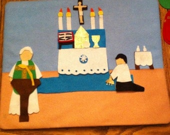 SALE-play felt pieces themed for The Catholic Mass