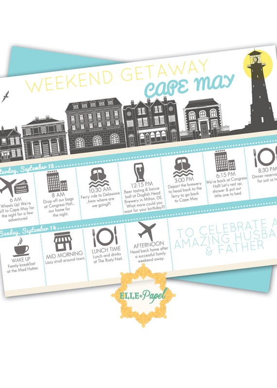 Printable Itinerary For A Weekend Getaway Couples Getaway