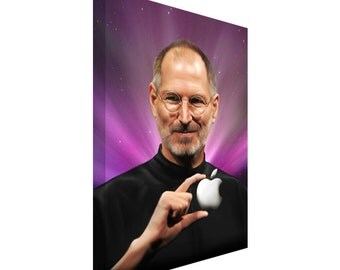 FREE SHIPPING: Apple Mac Steve Jobs Canvas Art Painting
