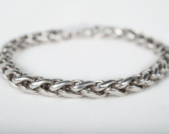 Sterling Silver Interwoven Bracelet