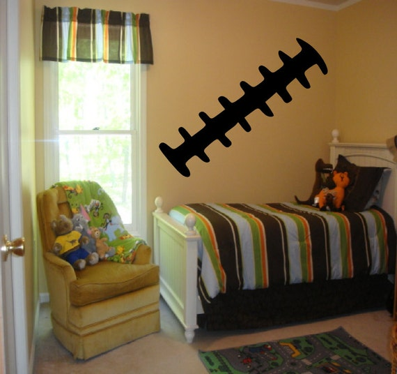 football laces wall decal boys room decor football decal