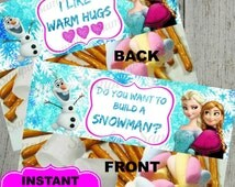 Frozen Candy Bag Topper - Princess Printable - Disney Frozen Inspired Digital - Birthday Party -  Instant Download - Goody Bag Treat