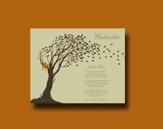 GODMOTHER gift - Godmother Gift from Bride on Wedding Day, groom thank ...