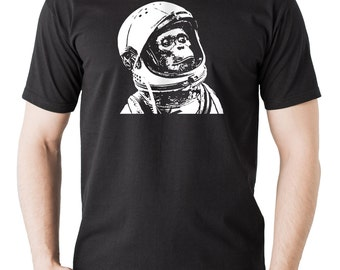 Chimp Astronaut T-Shirt Funny Creative Stylish Tee Shirt
