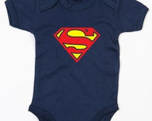 Superman baby grow brother sister vest cute Super Hero gift