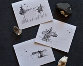 Greetings from Orcas Island ~ Northwest Themed 3-pack   Greeting Cards