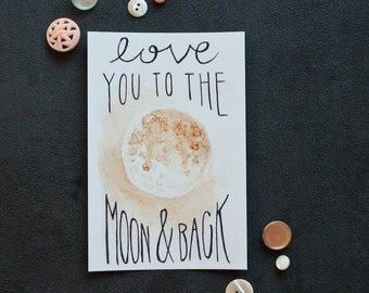 To The Moon   Postcard