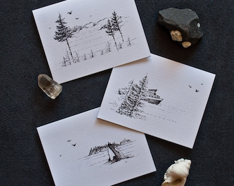 Greetings from Orcas Island ~ Northwest Themed 3-pack | Greeting Cards