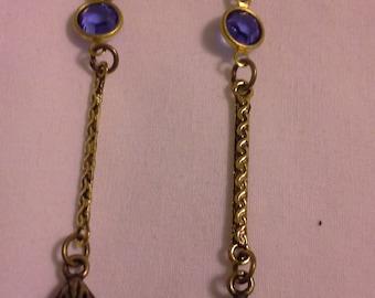 Long Vintage Inspired Elegant  Earrings = E105