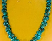 Turquoise Necklace Teardrop Turquoise American Turquoise