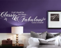 Classy And Fabulous Coco Chanel Wall Sticker Bedroom Room Decal Mural Transfer Art Stencil Wall Stickers