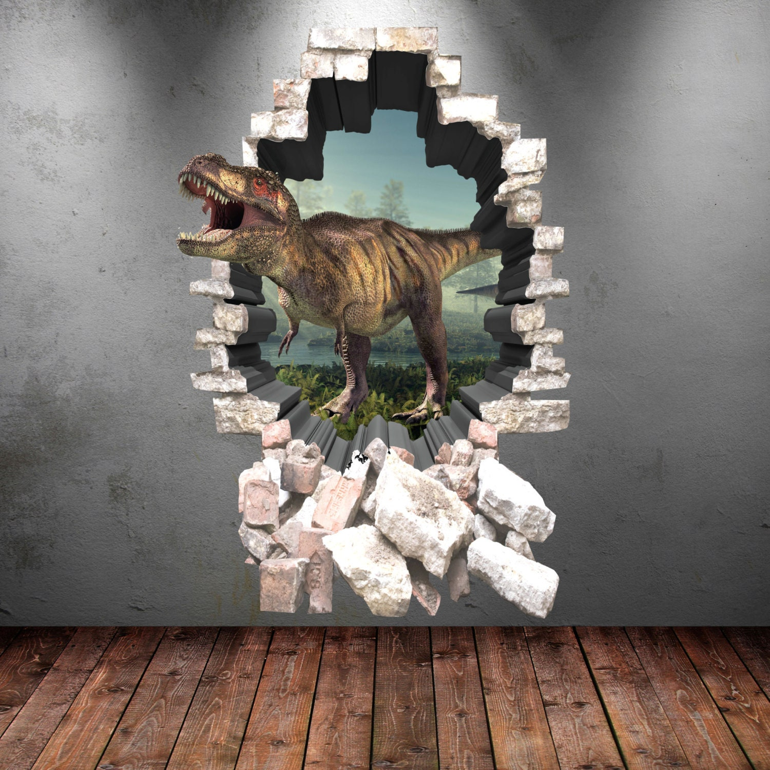 Dinosaur Wall Decal Wall Stickers Full Colour D Dinosaur - 3d dinosaur wall decals