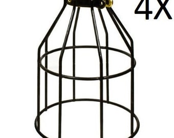 4X Metal Lamp Cage - Edison Bulb - Industrial lighting - Metal Cage