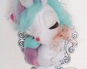 Cute Felt Unicorn Faux Taxidermy
