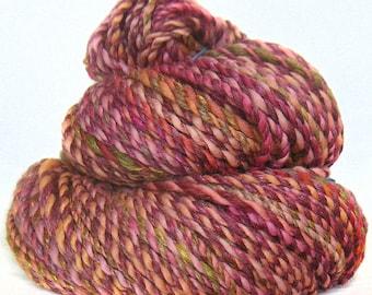 Handspun Yarn handdyed Merino BFL wool & silk