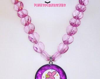 Purple Kawaii My Melody Necklace