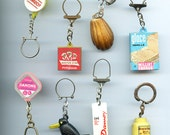 French Advertising Keychain ONE Vintage Figural Choice of (1) Realistic Shapes France Paris qz