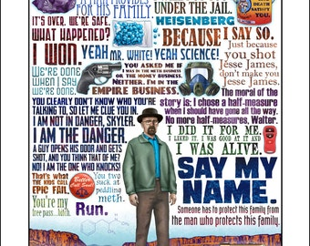 Say My Name- Breaking Bad tribute signed print