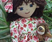 Playful Handmade RagDoll with Removable Clothes