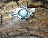Soulmate Birds, Larimar pendant, Bird Pendant, blue bird, bird fetish, flight, spiritual jewelry, symbolic jewelry, gemstone jewelry