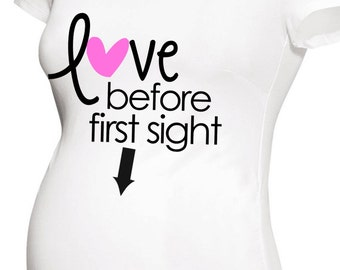 love before first sight sweet maternity top long or short sleeve maternity or non-maternity