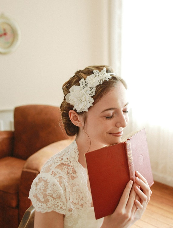 flower headbands for weddings lace wedding headband bridal headband flower headband 4196