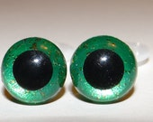 12mm Green Plastic Safety Animal Eyes