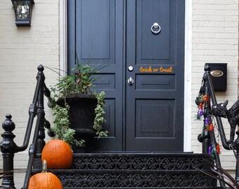 Trick or Treat Halloween Front Door Decal