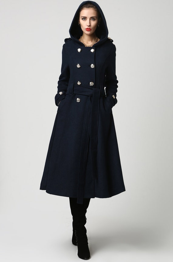 Winter Coat Overcoat Blue coat Wool Coat Womens coats