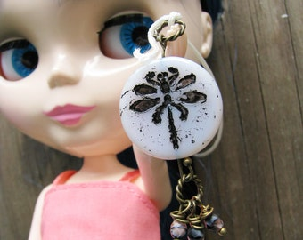 Blythe Pull Ring Charm Dragonfly necklace pendant