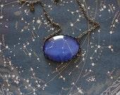 Aquarius Zodiac Necklace. Aquarius Constellation Necklace. Aquarius Necklace. Zodiac Sign Necklace. Zodiac Jewelry. Horoscope Necklace.