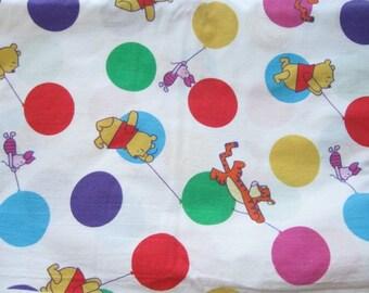 Winnie the Pooh with Balloons Polka Dot Novelty Print Fabric Yardage Destash