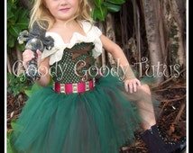 LITTLE BUT FIERCE Zarina the Pirate Fairy Inspired Crochet Tutu Dress - Large 4-6t