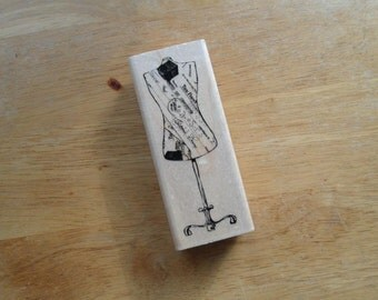 Dress Form Rubber Stamp by inkadinkado