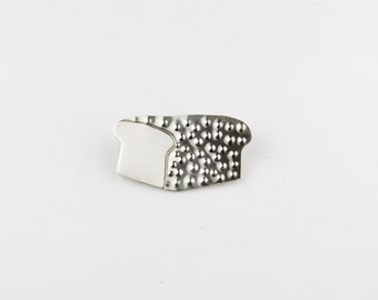 Loaf of Bread Sterling Silver Pin