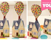 Balloon House Favor Box (Small) : DIY Printable UP Inspired House PDF - Instant Download