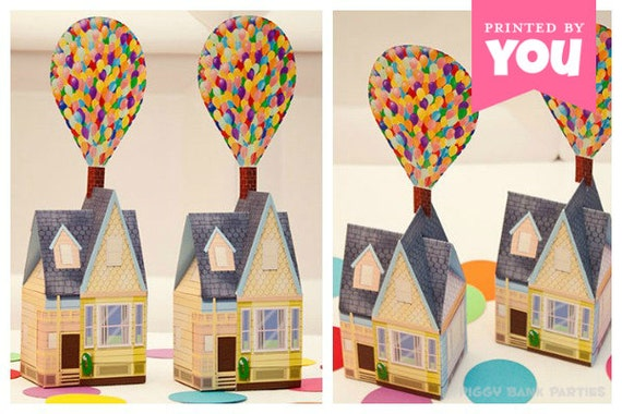 Balloon House Favor Box (Small) : Print at Home UP Inspired House Gift Box | New Home | DIY Printable | Digital File - Instant Download