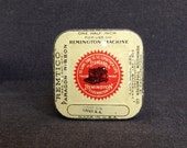 The Remington typewriter machine ribbon tin box